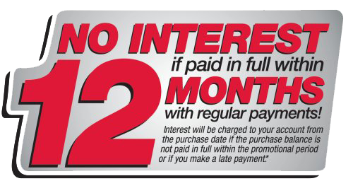 No interest if paid in full within 12 Months